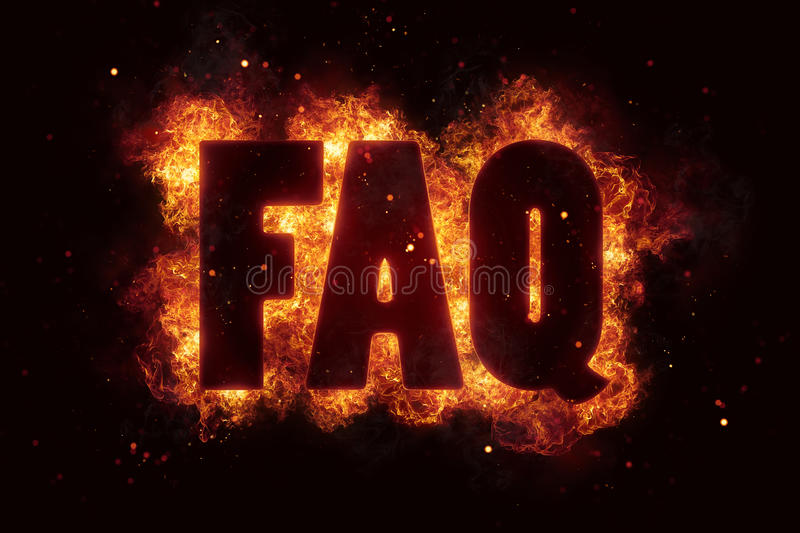 Download Faq Fire Text Flame Flames Burn Burning Hot Explosion Stock Illustration - Image: 88730718