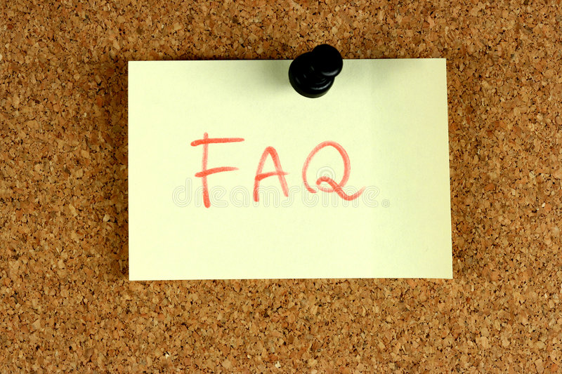 FAQ Frequently Asked Questions royalty free stock photos