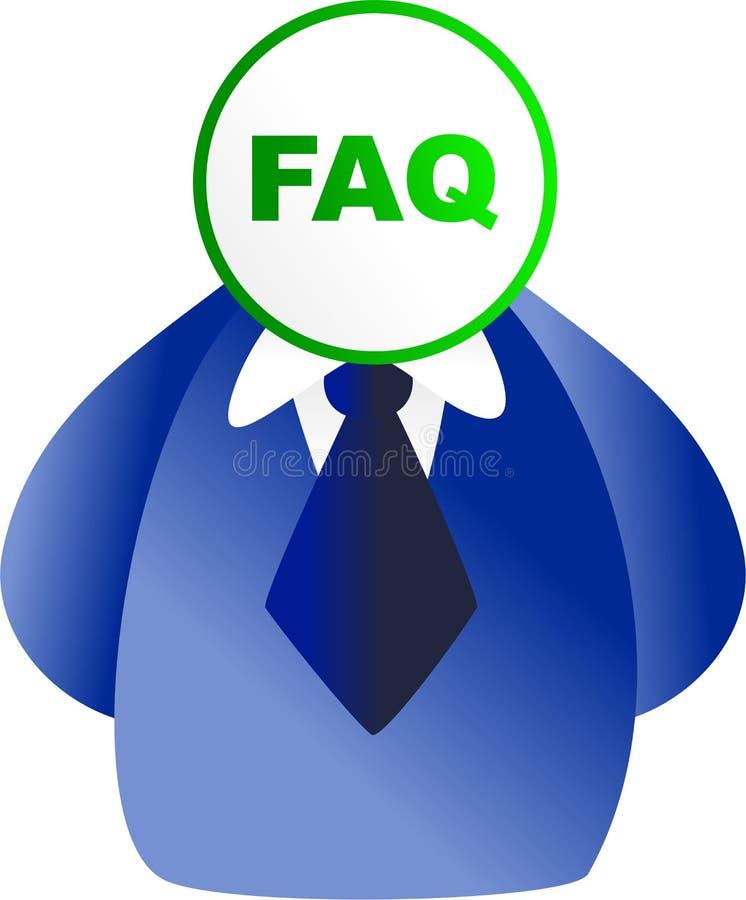 FAQ-Gesicht lizenzfreie abbildung