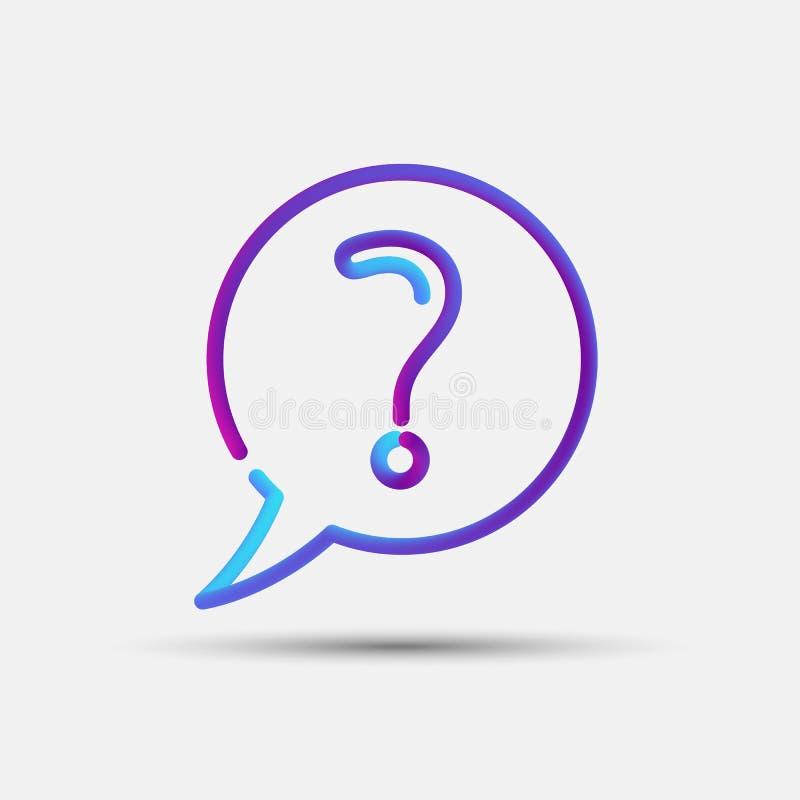 FAQ, Hilfe, Informationen, Frage, die gemischte Unterstützung verschachtelte kreatives L stock abbildung