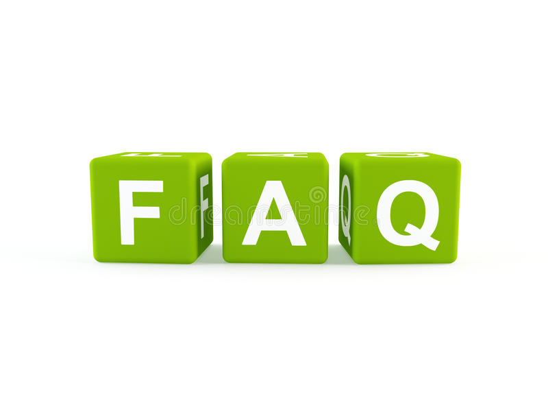 FAQ icon royalty free illustration