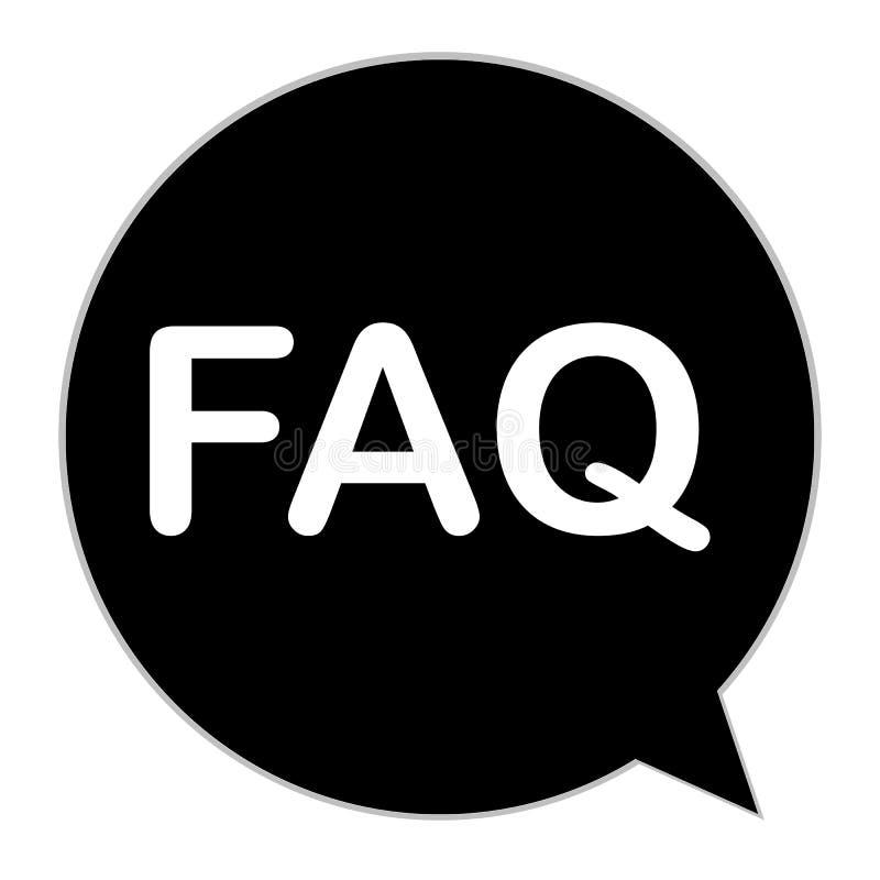 FAQ ikona na białym tle Mieszkanie styl faq informaci znak ilustracja wektor