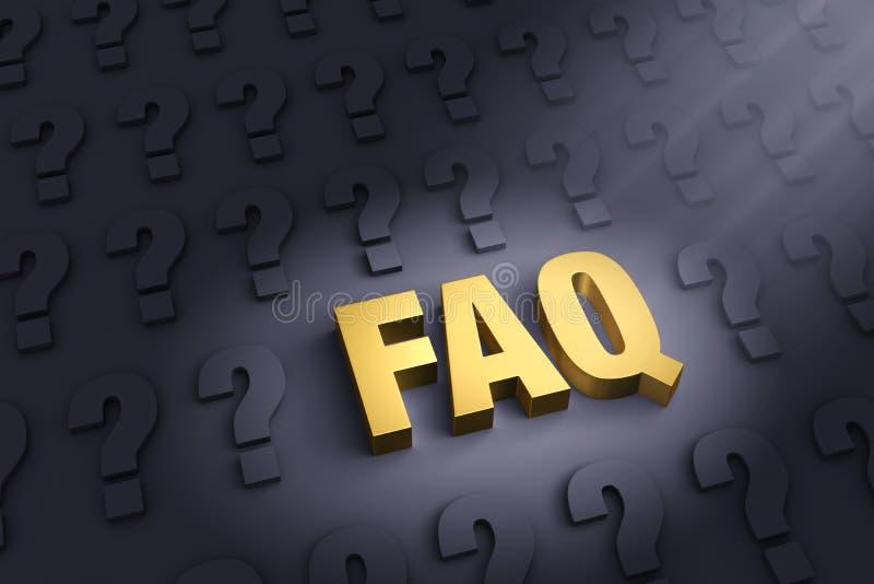 FAQ Jest Tutaj royalty ilustracja