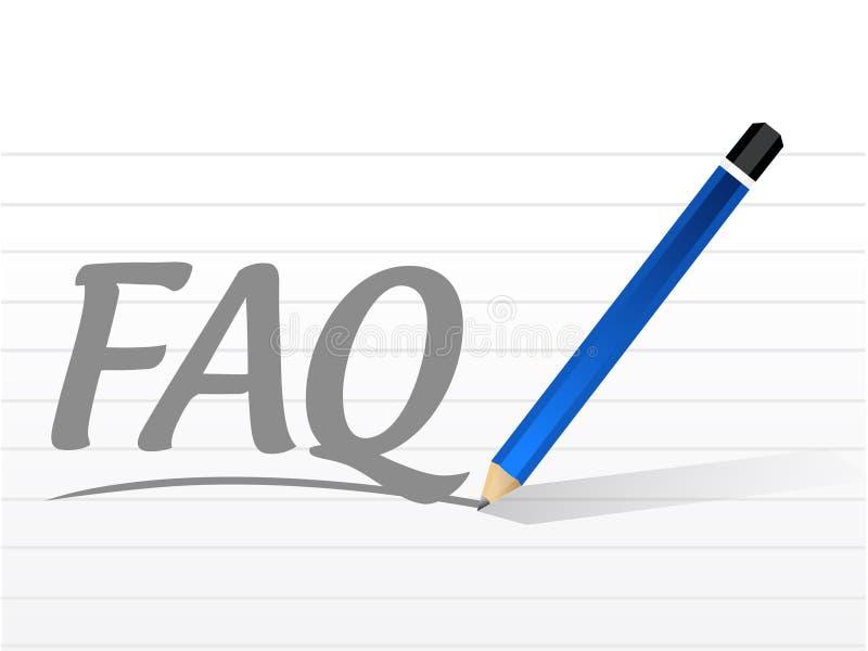 faq message sign illustration design stock illustration