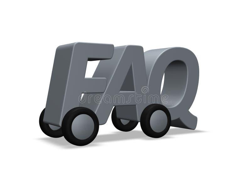 FAQ nas rodas ilustração royalty free