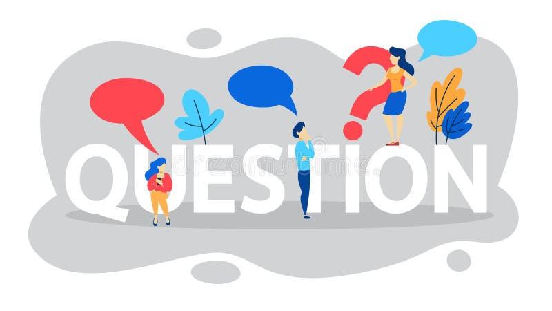 FAQ o concetto di domande e risposte Aiuto del cliente illustrazione vettoriale