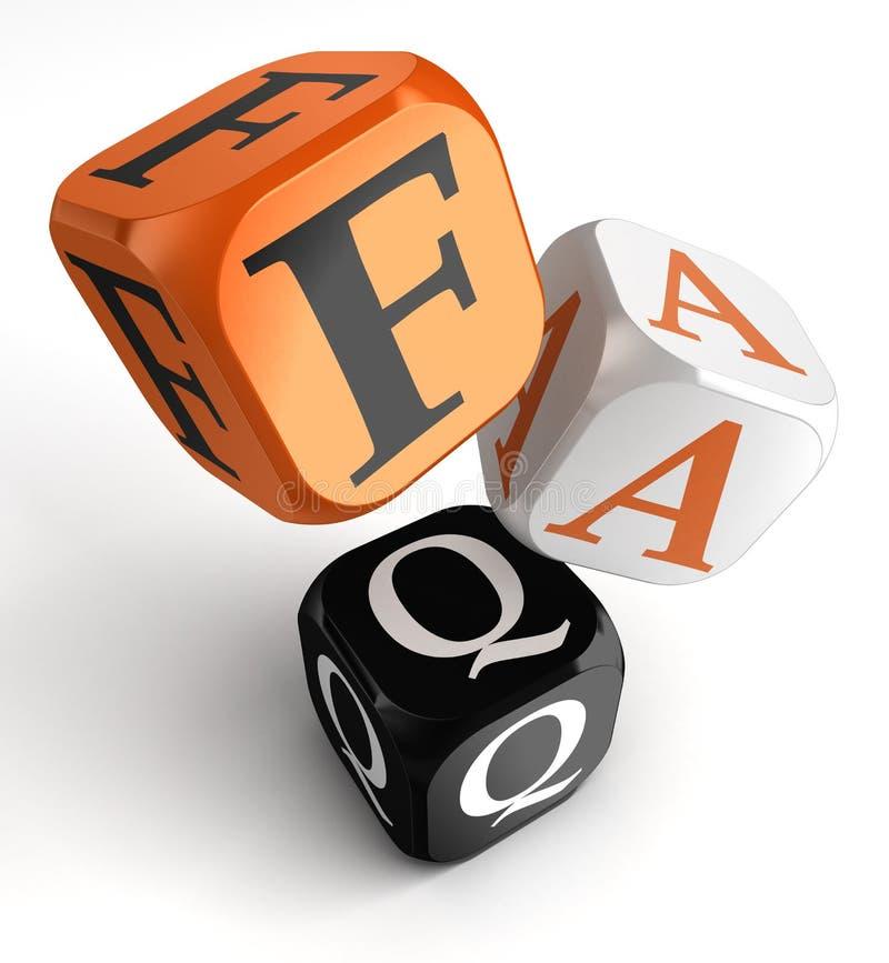 Faq orange black dice blocks royalty free illustration
