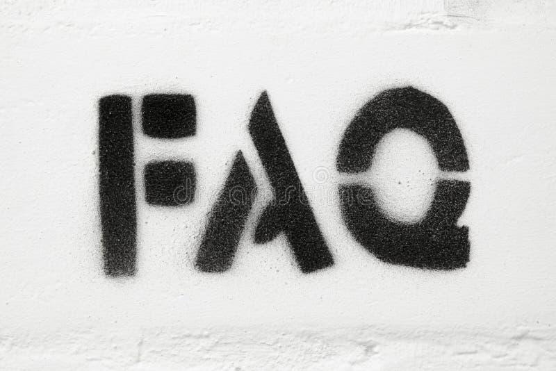 Faq-ord royaltyfri bild