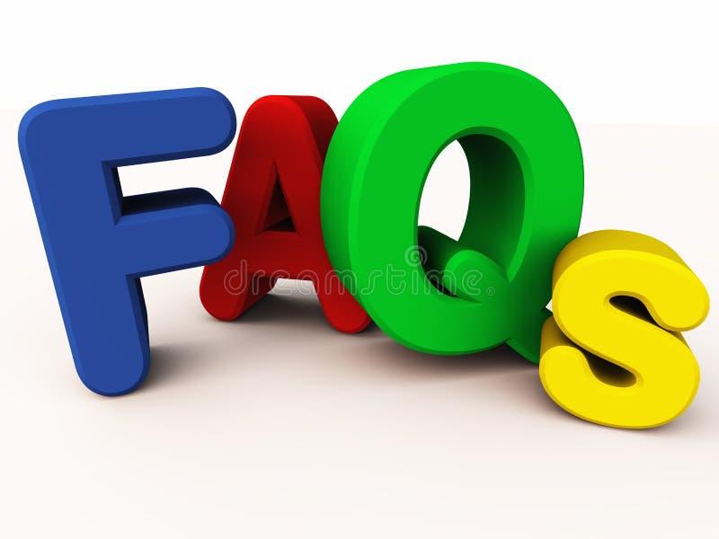 FAQ ou perguntas freqüentemente feitas ilustração do vetor