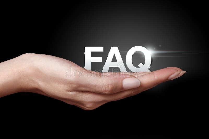 FAQ-pictogram royalty-vrije stock foto