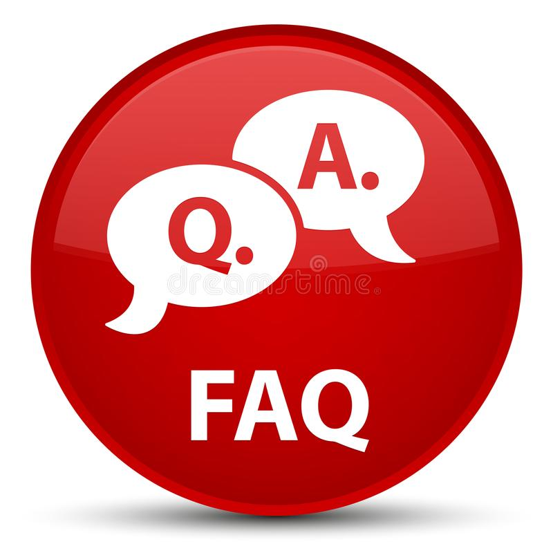 Faq (question answer bubble icon) special red round button stock illustration