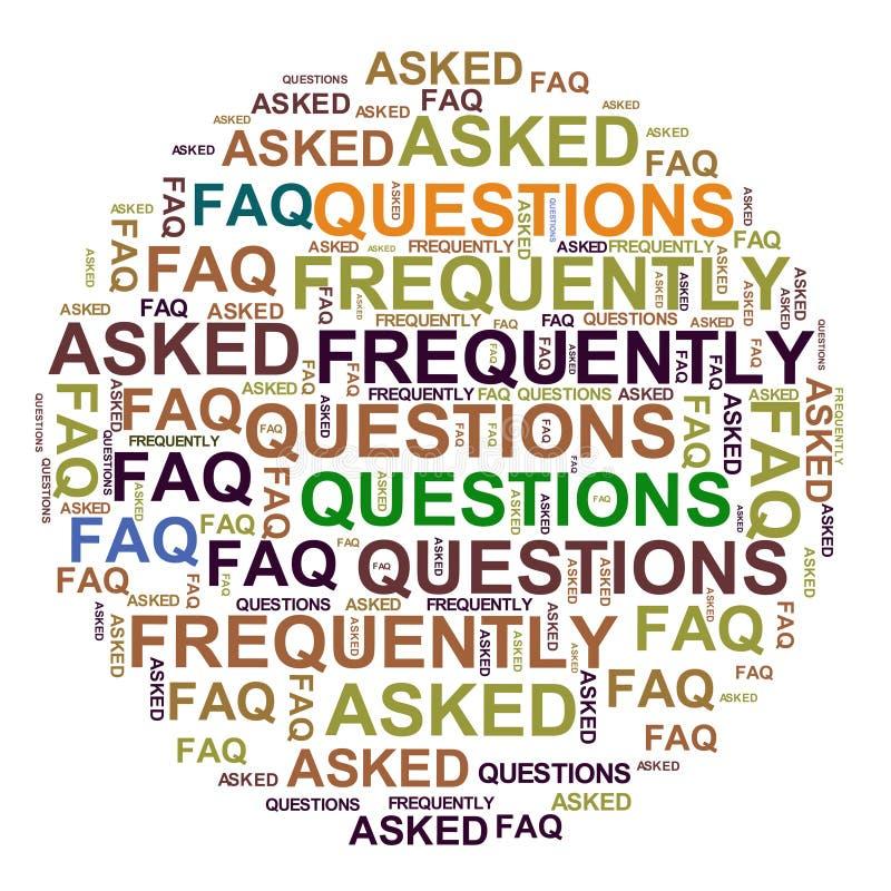 FAQ - Questions souvent posées illustration de vecteur