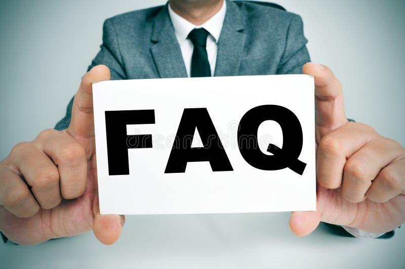 FAQ, stelde vaak Vragen royalty-vrije stock foto's