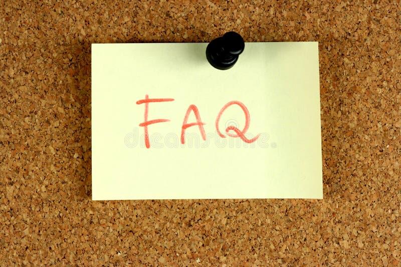 FAQ stellte häufig Fragen lizenzfreie stockfotos