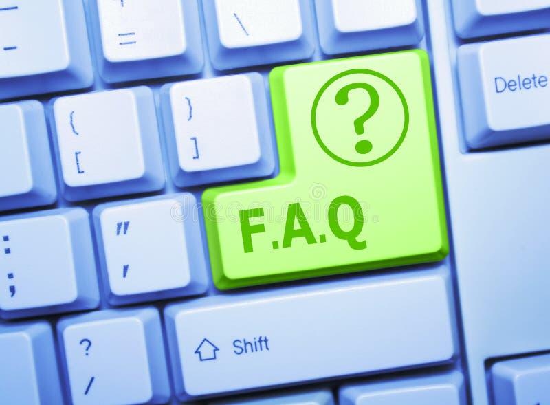 FAQ-Taste stockbild