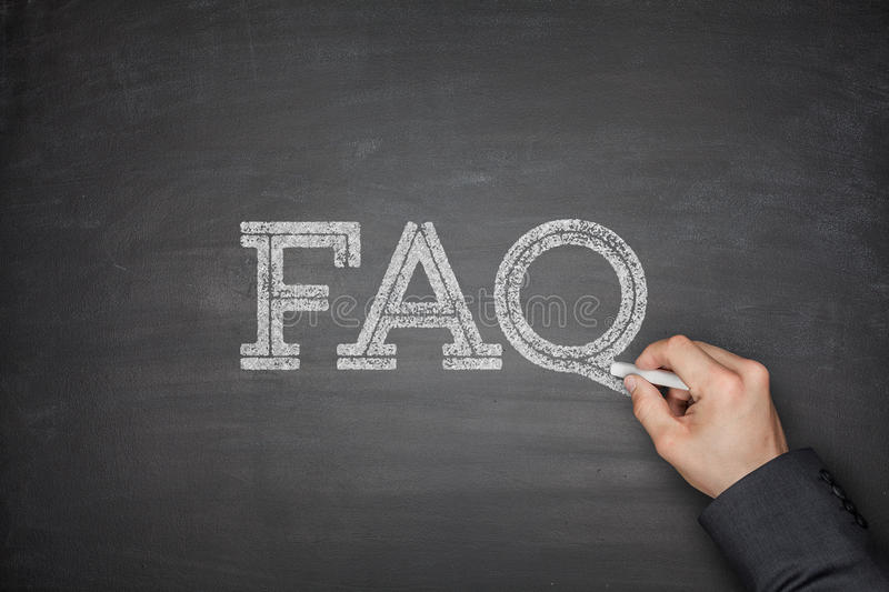 FAQ text concept stock photos