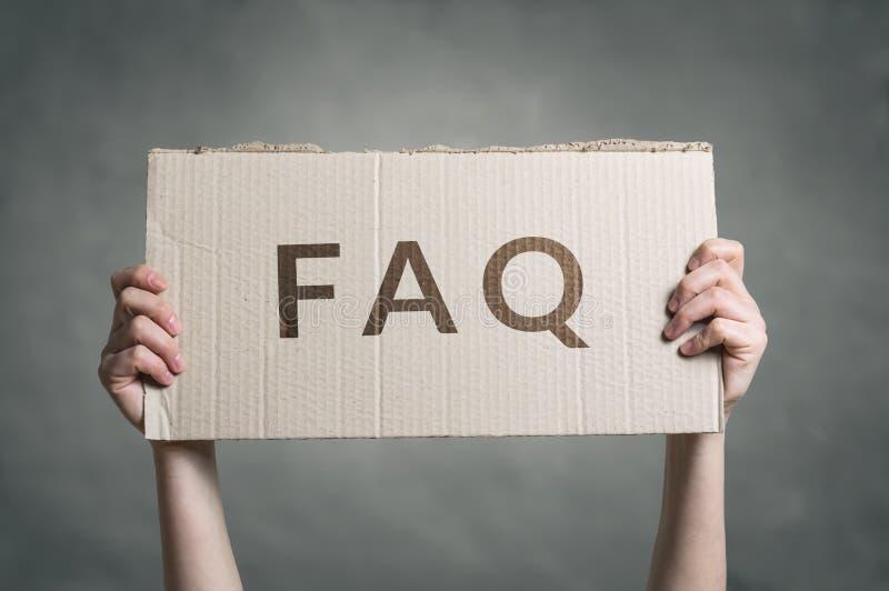 FAQ - Texto con frecuencia pedido de las preguntas foto de archivo libre de regalías