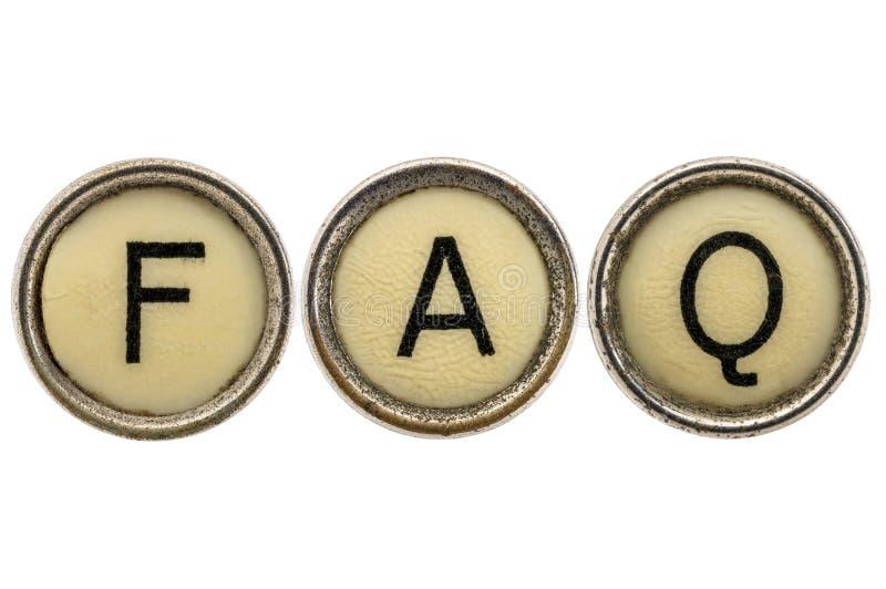 FAQ - vaak Gestelde Vragen royalty-vrije stock foto