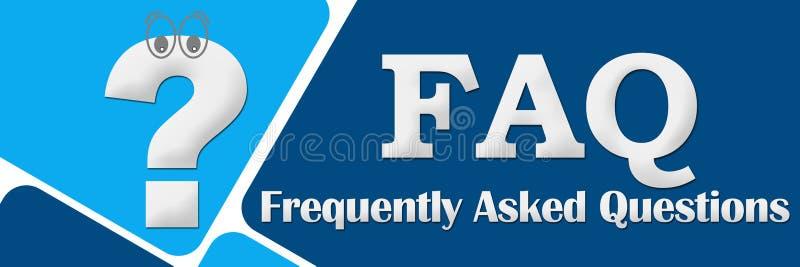 FAQ - Vanliga frågor två blåa fyrkanter vektor illustrationer