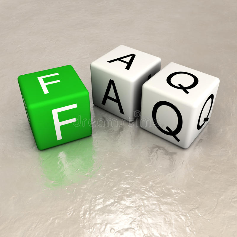 Faq. Word made of cubes vector illustration