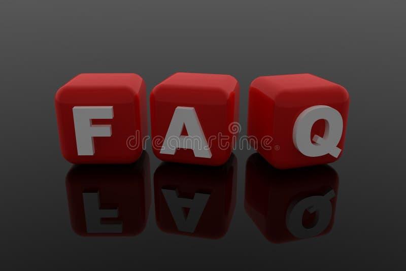 FAQ-Zeichen vektor abbildung