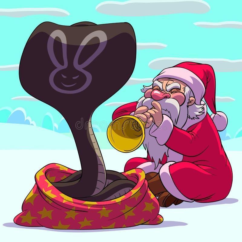 Faquir Papá Noel ilustración del vector