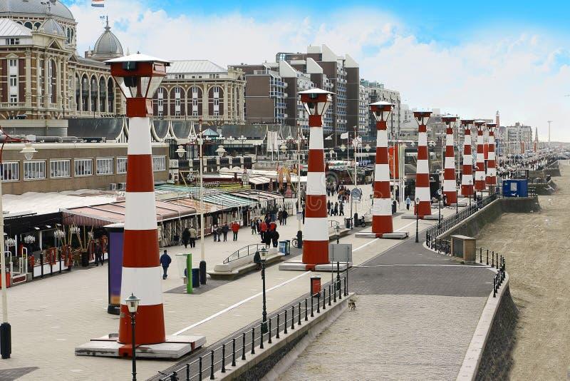 Faróis de Scheveningen, Haia imagem de stock royalty free