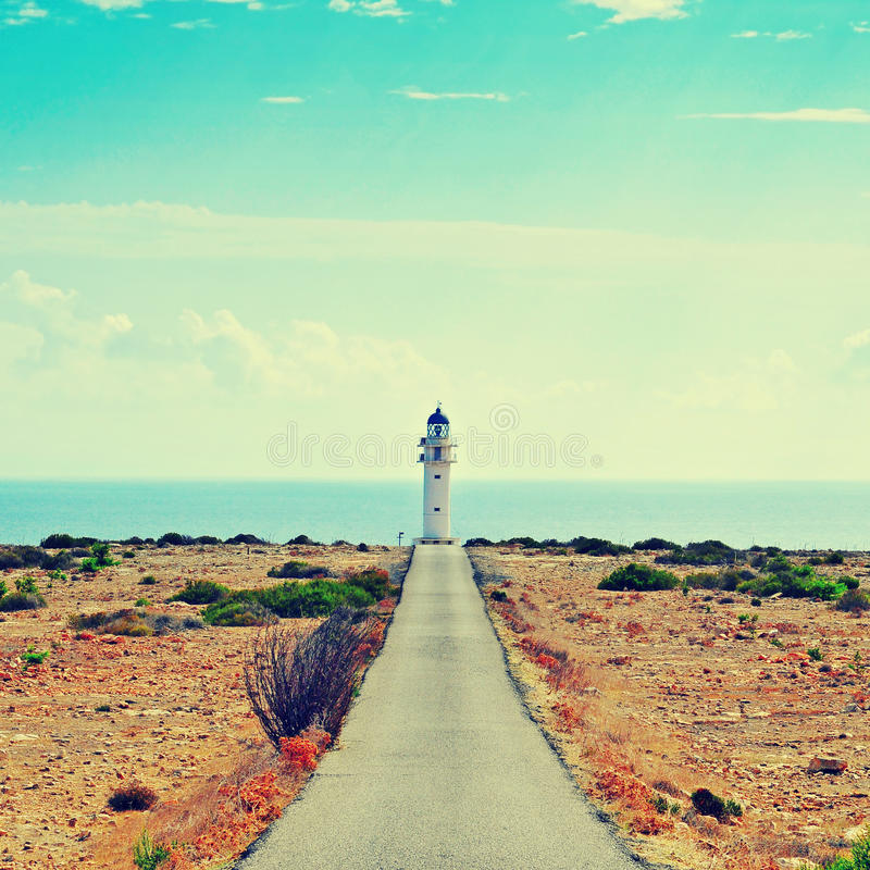Far de Barbaria in Formentera, Balearic Islands, Spain royalty free stock image