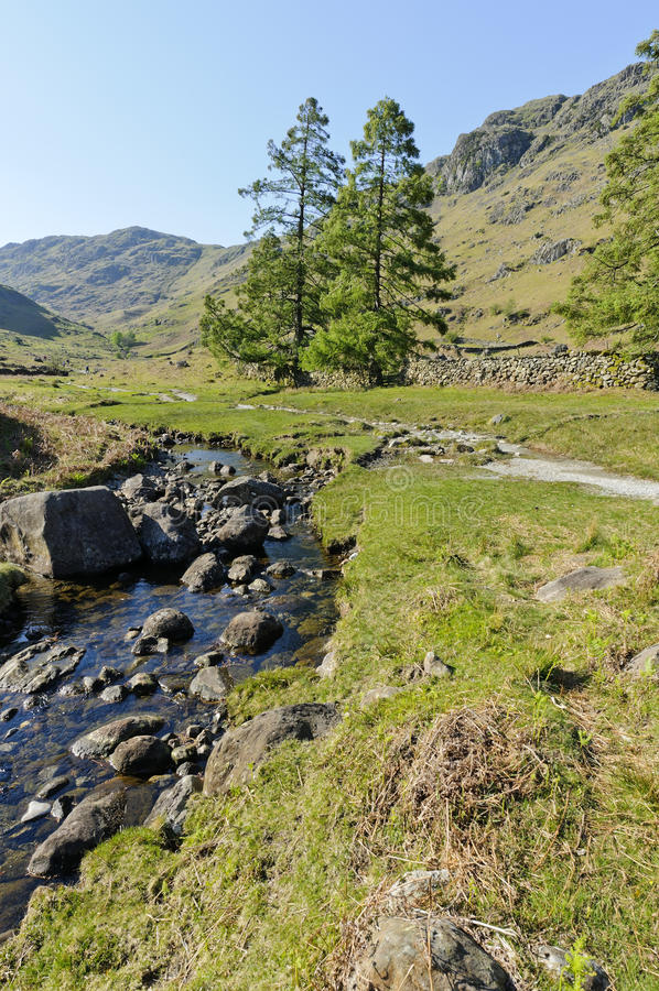 Download Far Easedale Gill stock photo. Image of lake, blue, cumbria - 22344512