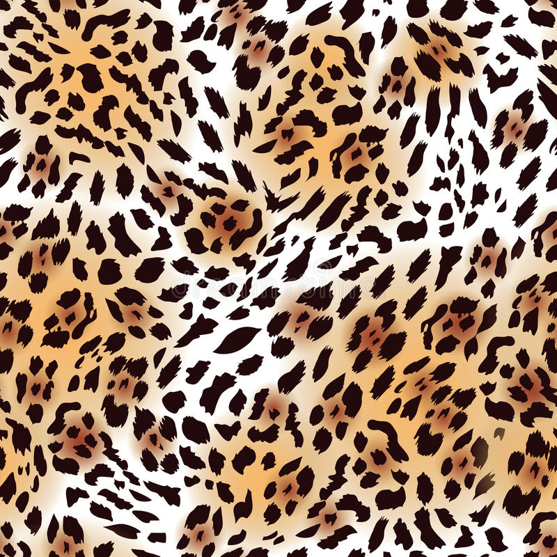 Free Far Eastern Leopard Fur Seamless Vector Print Royalty Free Stock Images - 48713929