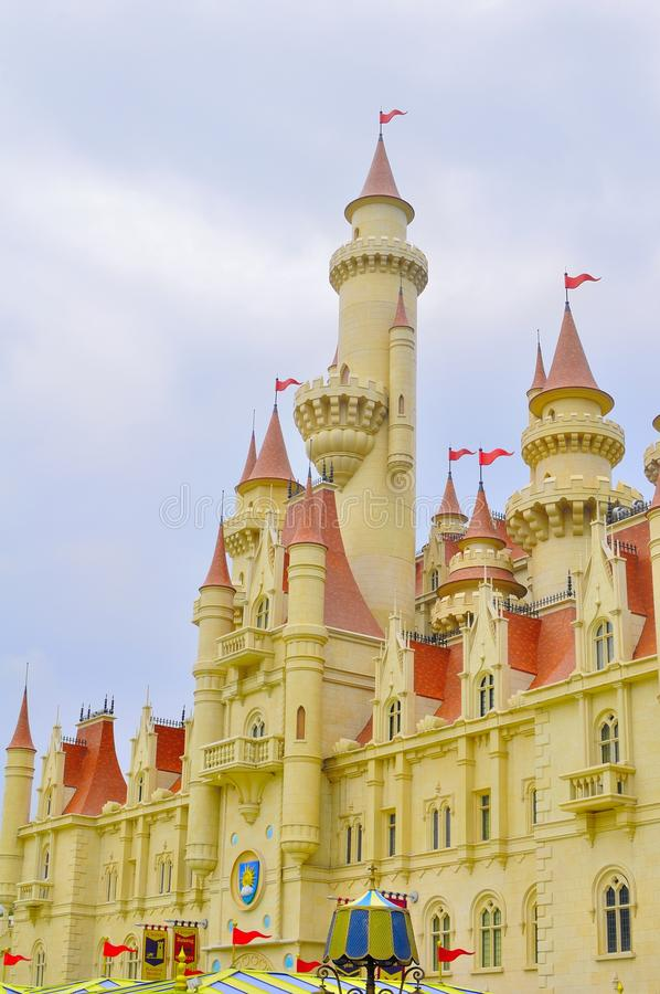 Far Far Away Castle In Universal Studio Singapore Editorial Photo