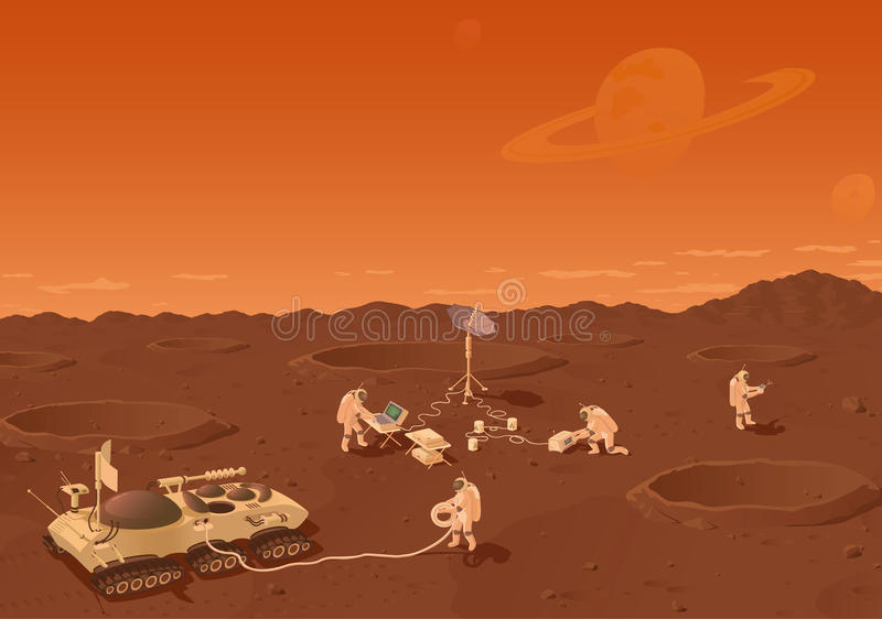 Download Far planet stock vector. Image of planet, sand, computer - 17552469