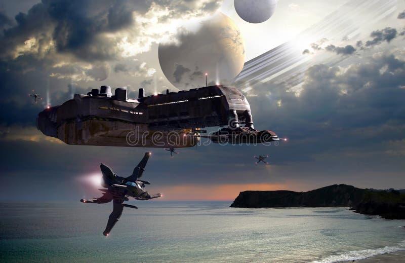 Far planets royalty free illustration