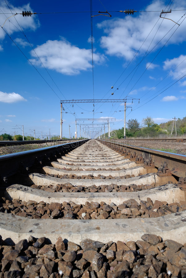 Download Far view of the railway stock photo. Image of landscape - 6948556