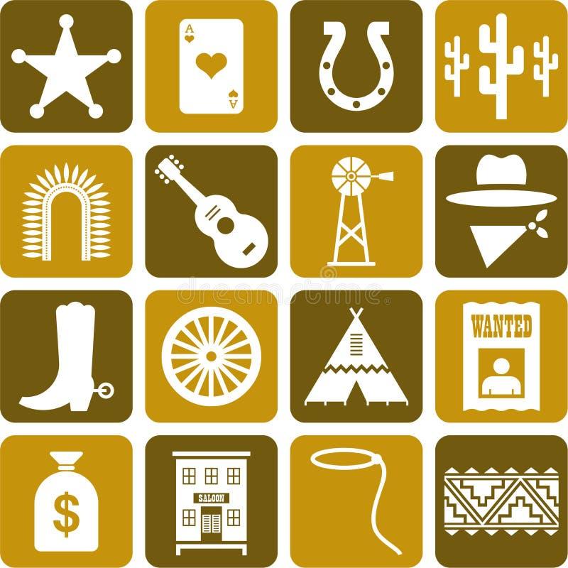Download Far West pictograms stock vector. Illustration of desert - 22642730
