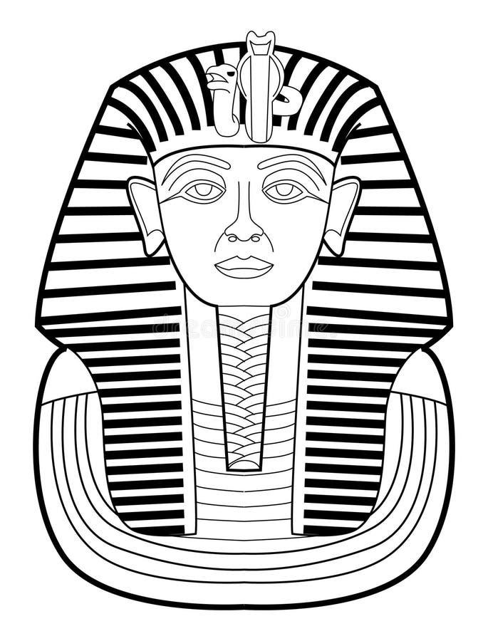Faraó ilustração royalty free