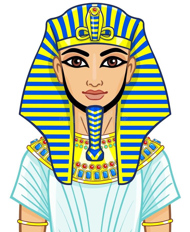 Faraó do egípcio da animação ilustração stock