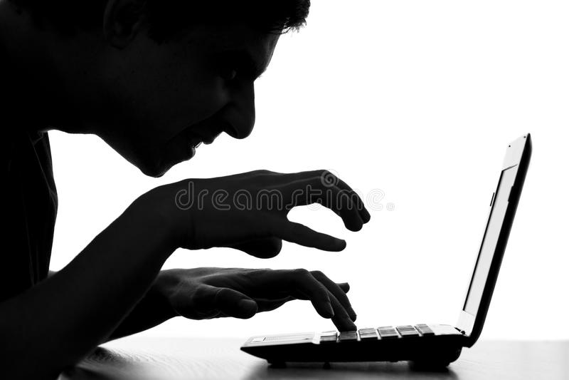 Fara av internet s som personliga data för stjälaanvändare` arkivfoton