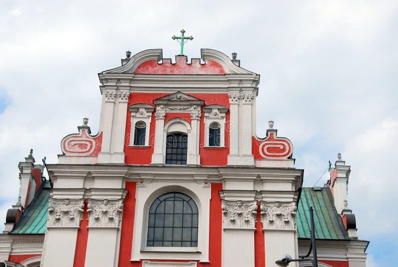 Fara Poznanska巴洛克式的教会在波兹南 库存照片