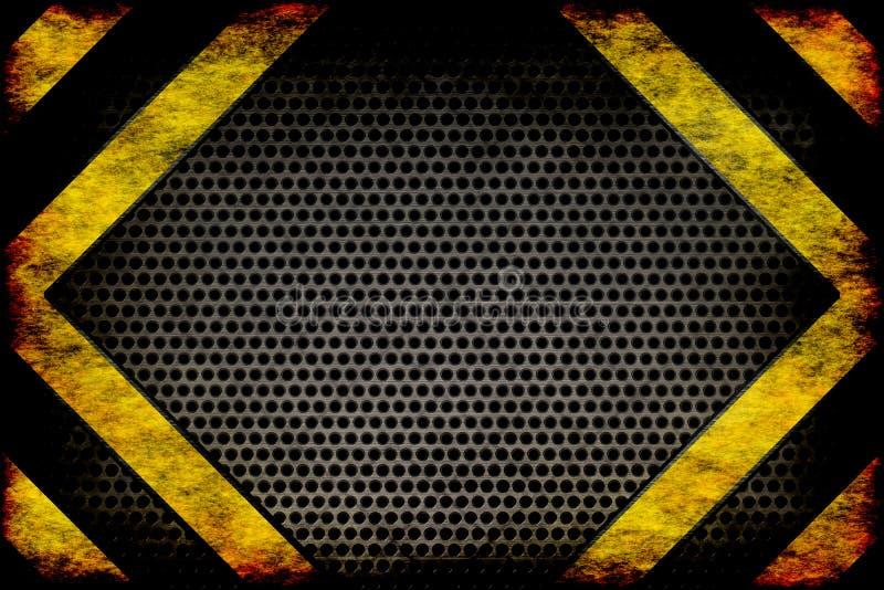 Farabakgrund. varningslinjer, svart och guling. vektor illustrationer