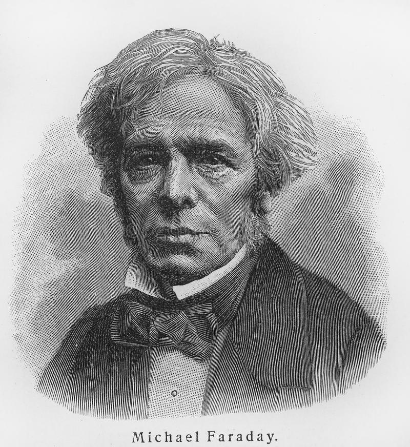 faraday michael royaltyfri foto