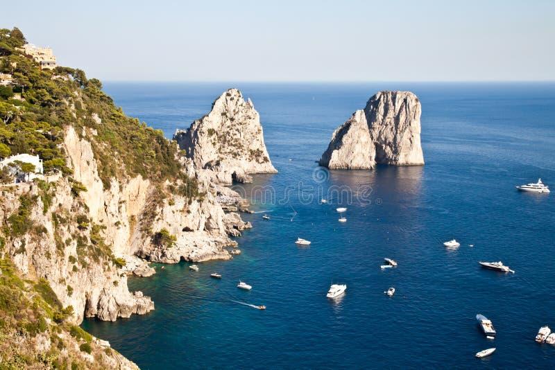 Faraglioni Di Capri stock foto