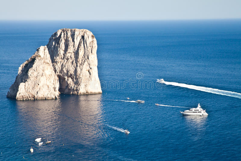 Faraglioni di Capri stock photo