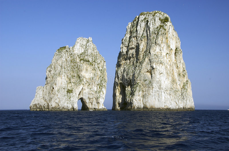 Faraglioni di Capri fotos de archivo