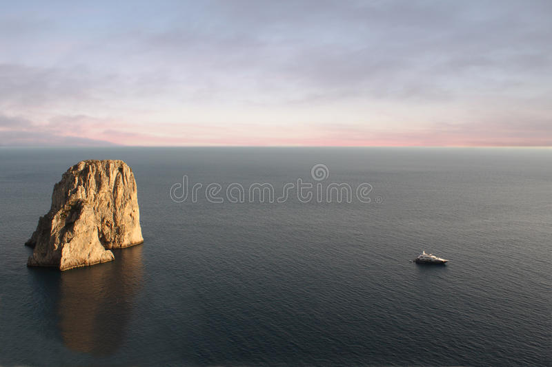 Download Faraglioni at Dusk stock image. Image of view, italy - 10531293