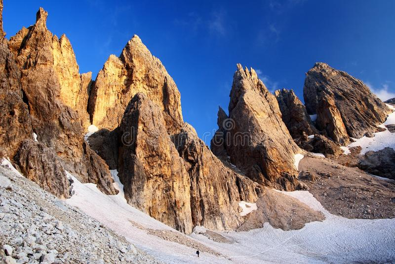Farangole de delle de Passo - di pâle San Martino - dolomiti images libres de droits