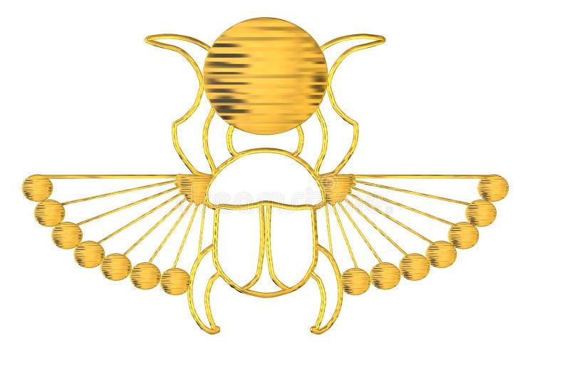 faraon skarabeusz royalty ilustracja