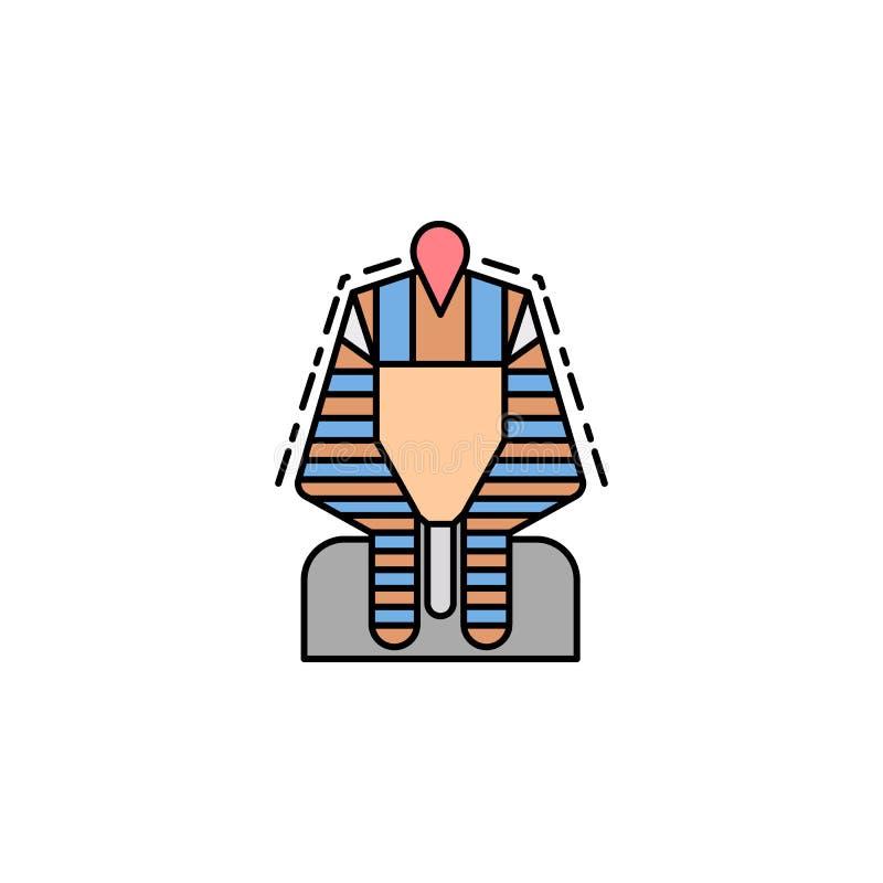 faraone, Egitto, etnico, icona di dinastia Elemento dell'icona di colore di storia per i apps mobili di web e di concetto Faraone illustrazione vettoriale