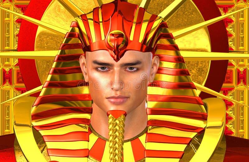 Faraone egiziano Ramses Una versione digitale moderna di arte del re egiziano antico royalty illustrazione gratis