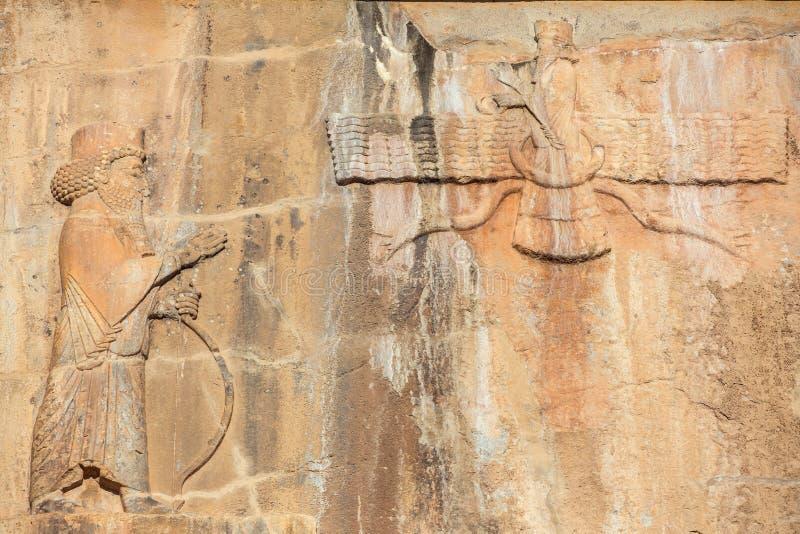 Faravahar, σύμβολο Zoroastrianism στην πόλη Persepolis στοκ εικόνες με δικαίωμα ελεύθερης χρήσης